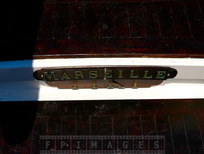 Boat named Marseille - nautical detail