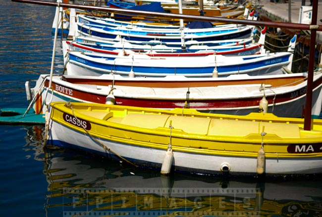Fishing boats bright colors