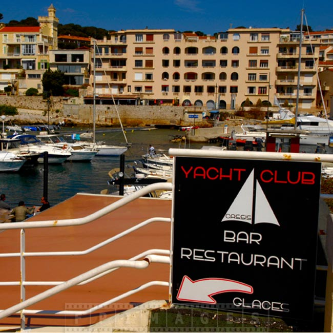 Cassis yacht club and port view
