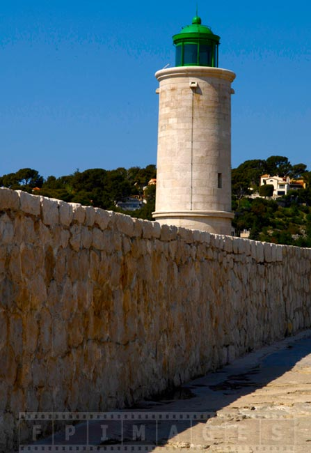 Cassis Lighthouse guards entry to the harbour