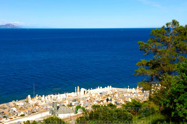 Saint Tropez old cemetery and beautiful sea