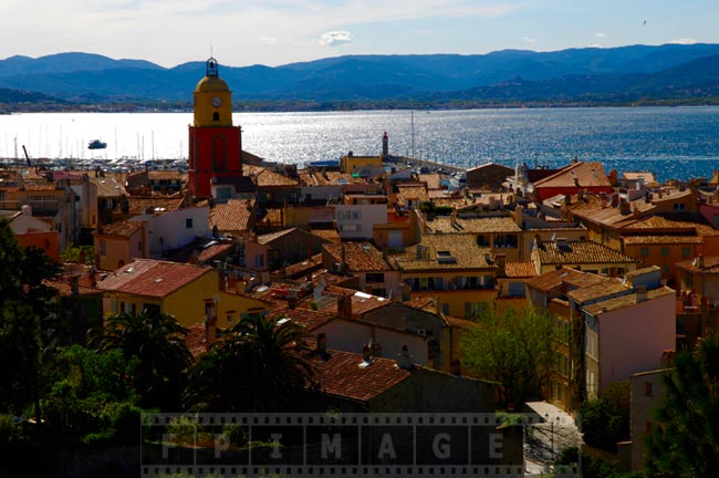 Saint Tropez town center as viewed from the citadel hill
