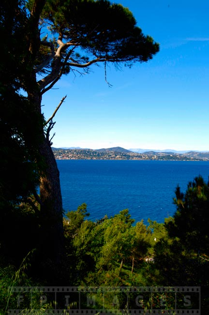 Scenic views from Saint Tropez, south of France landscapes
