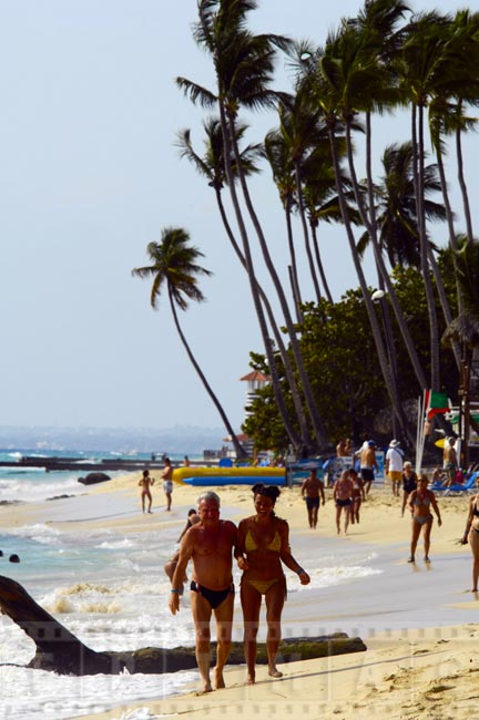 People at the beach in Dominican Republic