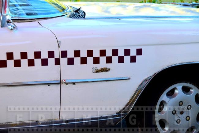 Vintage car detail - front fender