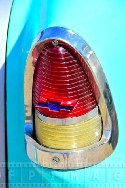 Old car detail - 1950-s Chevy tail light