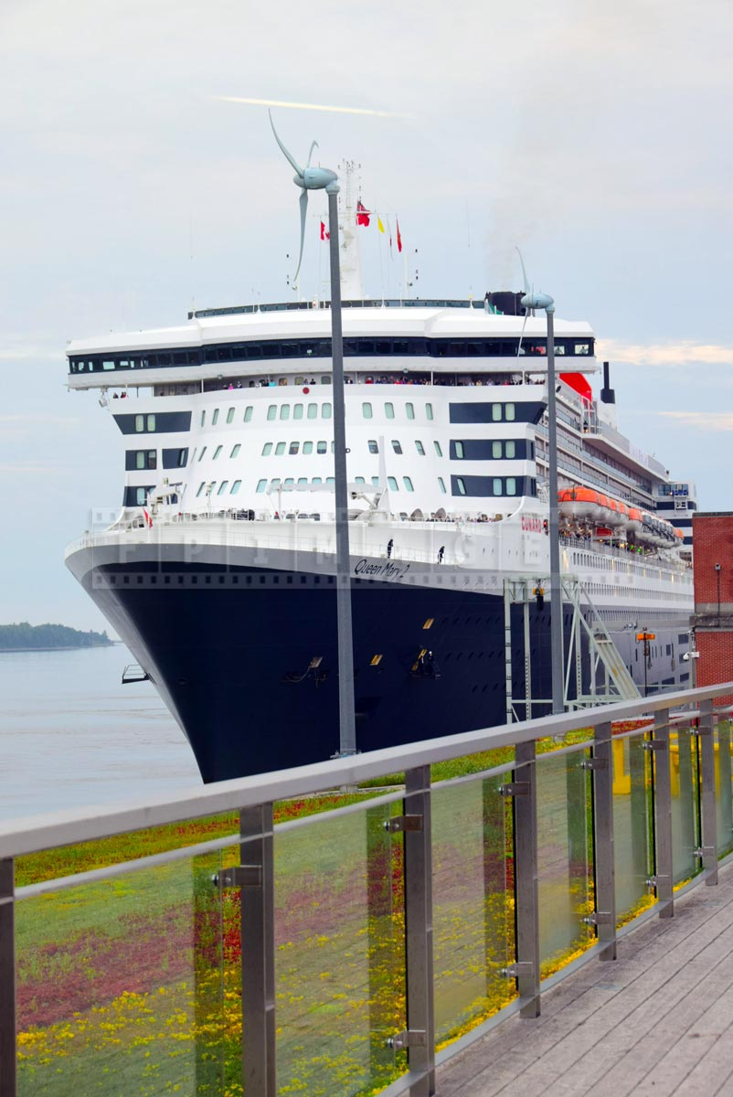 Cruise ship Queen Mary 2 docked in Halifax for 175-th Cunard Line anniversary