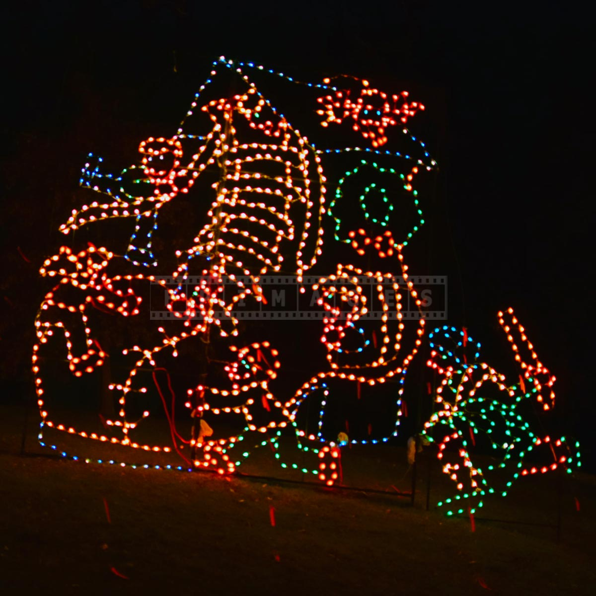 Animated Xmas lights decorations