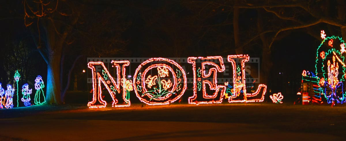 Beautiful xmas lights Noel sign