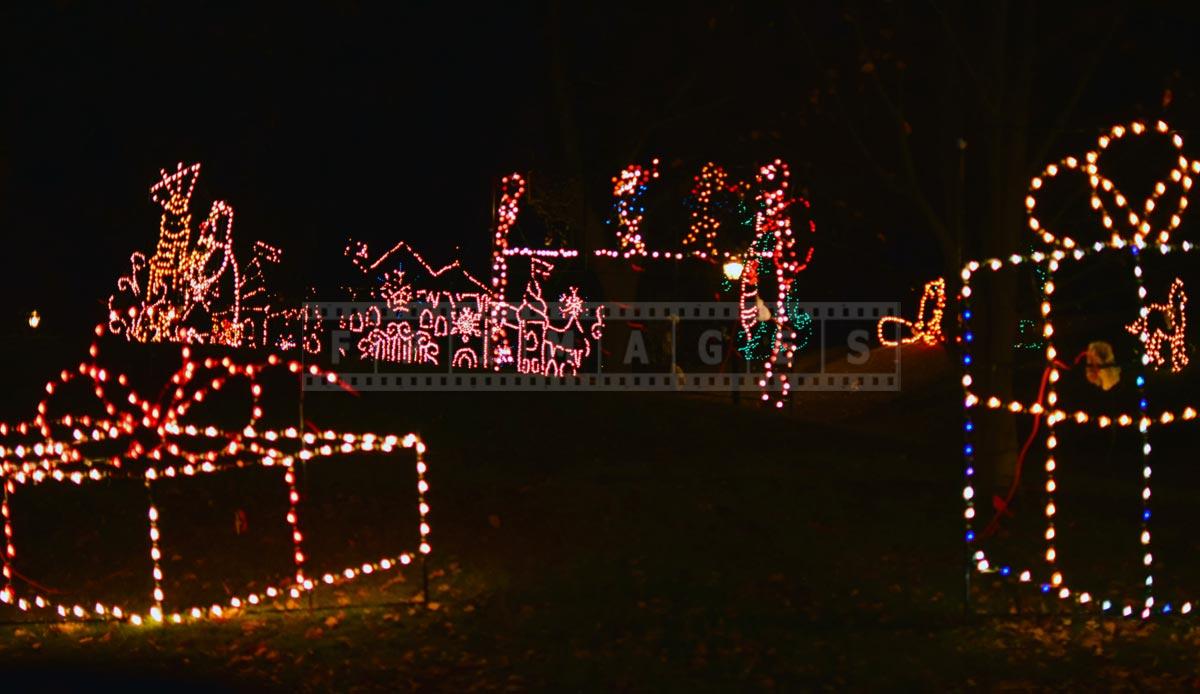 Christmas lights at Washington park Albany, NY
