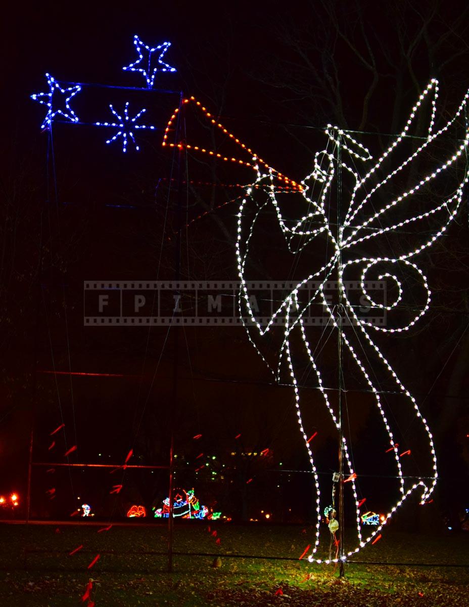 Victorian village - xmas lights angel