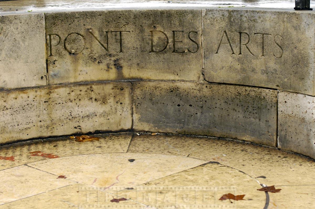 Pont des Arts - historic heritage bridge in Paris with love locks