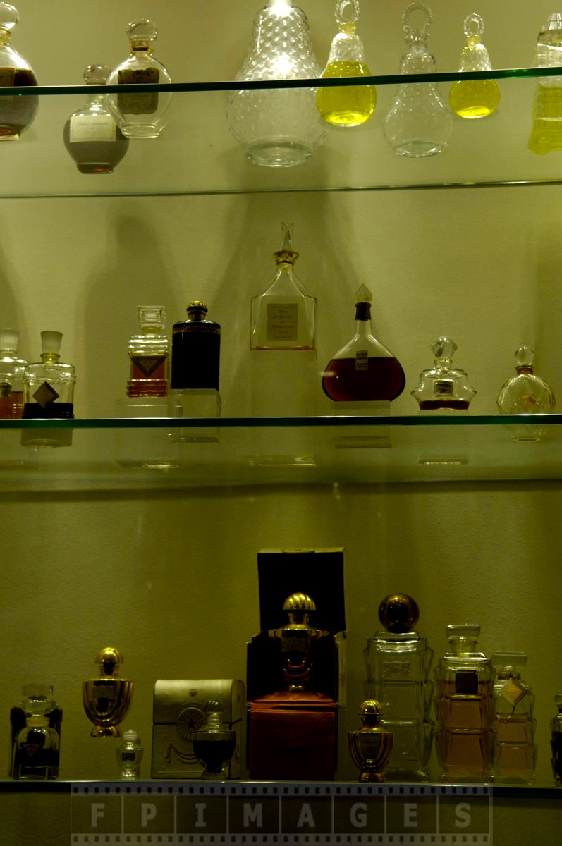 Antique perfume bottles and containers