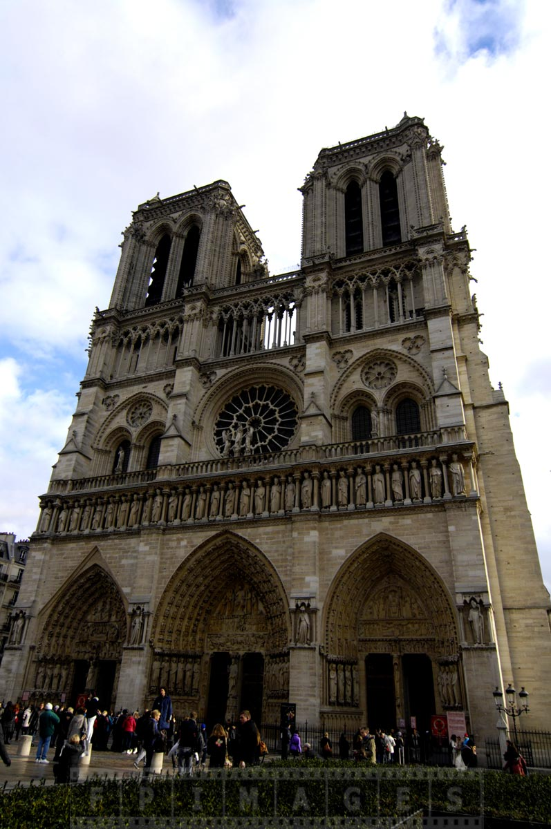Majestic Notre Dame de Paris, famous landmark