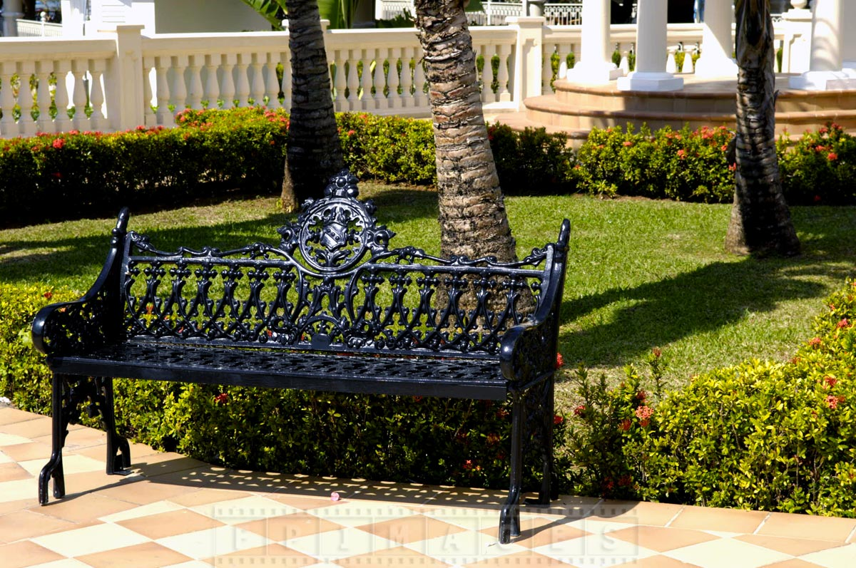 Nice cast iron bench at Riu Negril