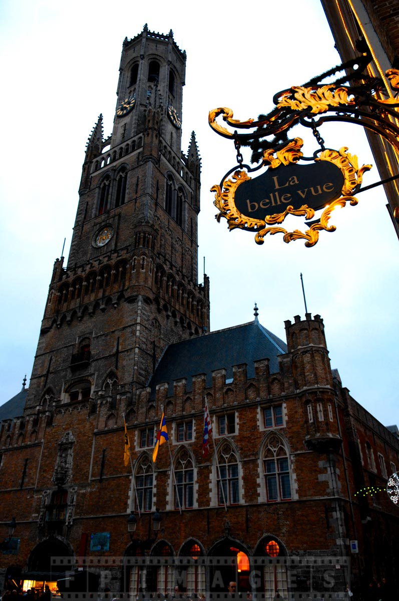 Bruges Belfry is a famous landmark with dominating architecture
