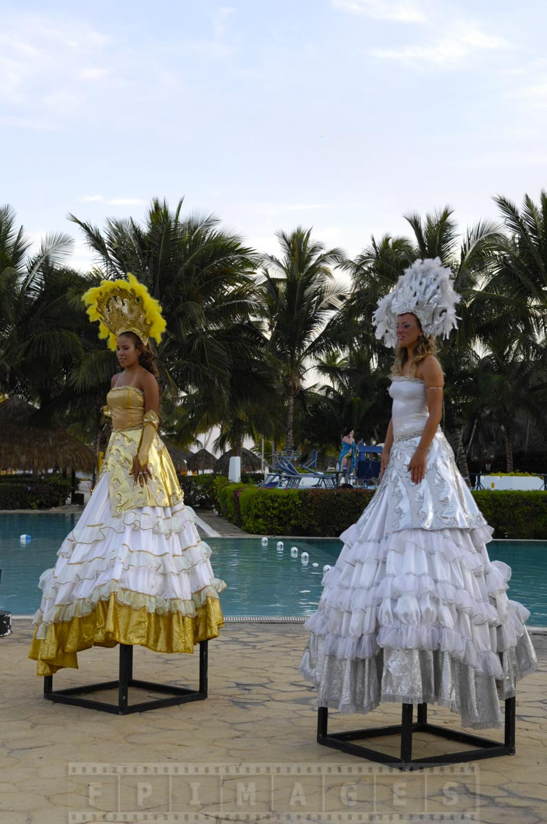 Two show ladies at the Caribbean resort