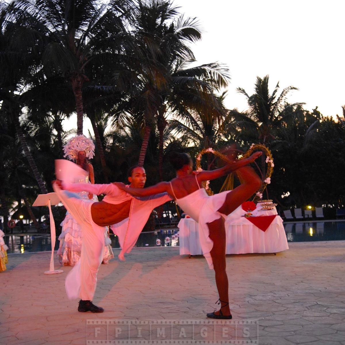 Dominican dancers performing romantic dance