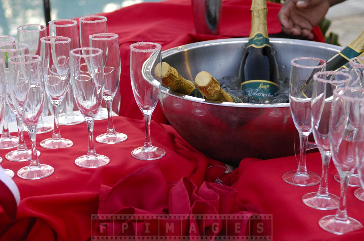 Unlimited champagne being chilled for Valentines celebrations