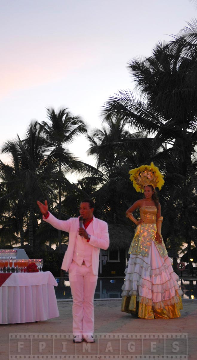 Valentines day evening show at an all inclusive hotel