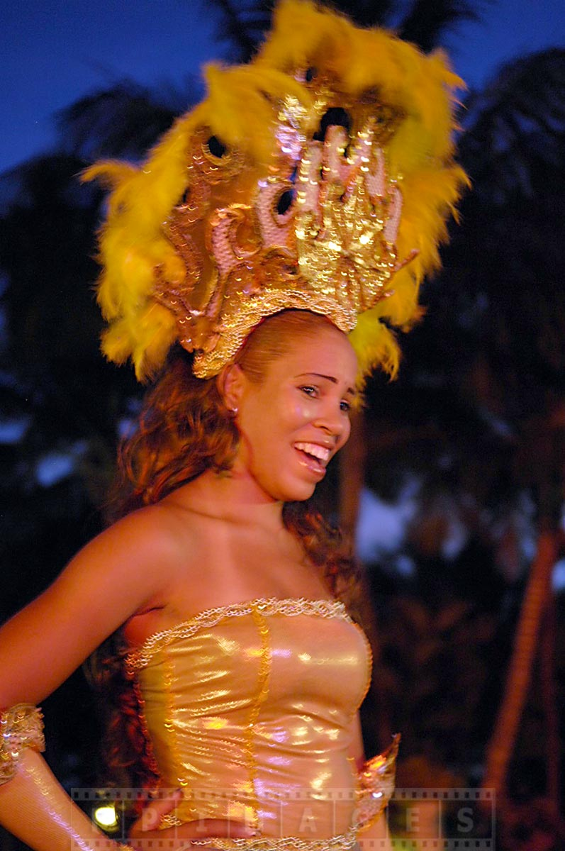 Gorgeous dress of a show performer at Gran Dominicus resort