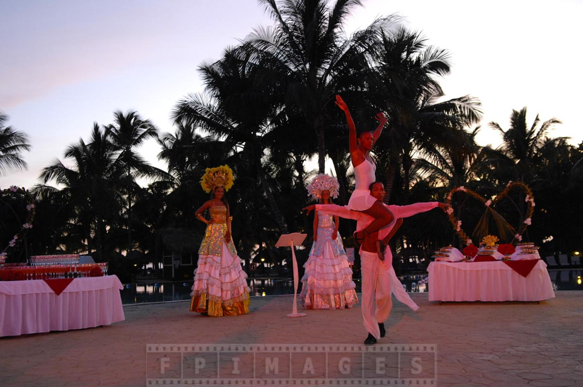 Romantic dance, Valentines day show at Gran Dominicus resort