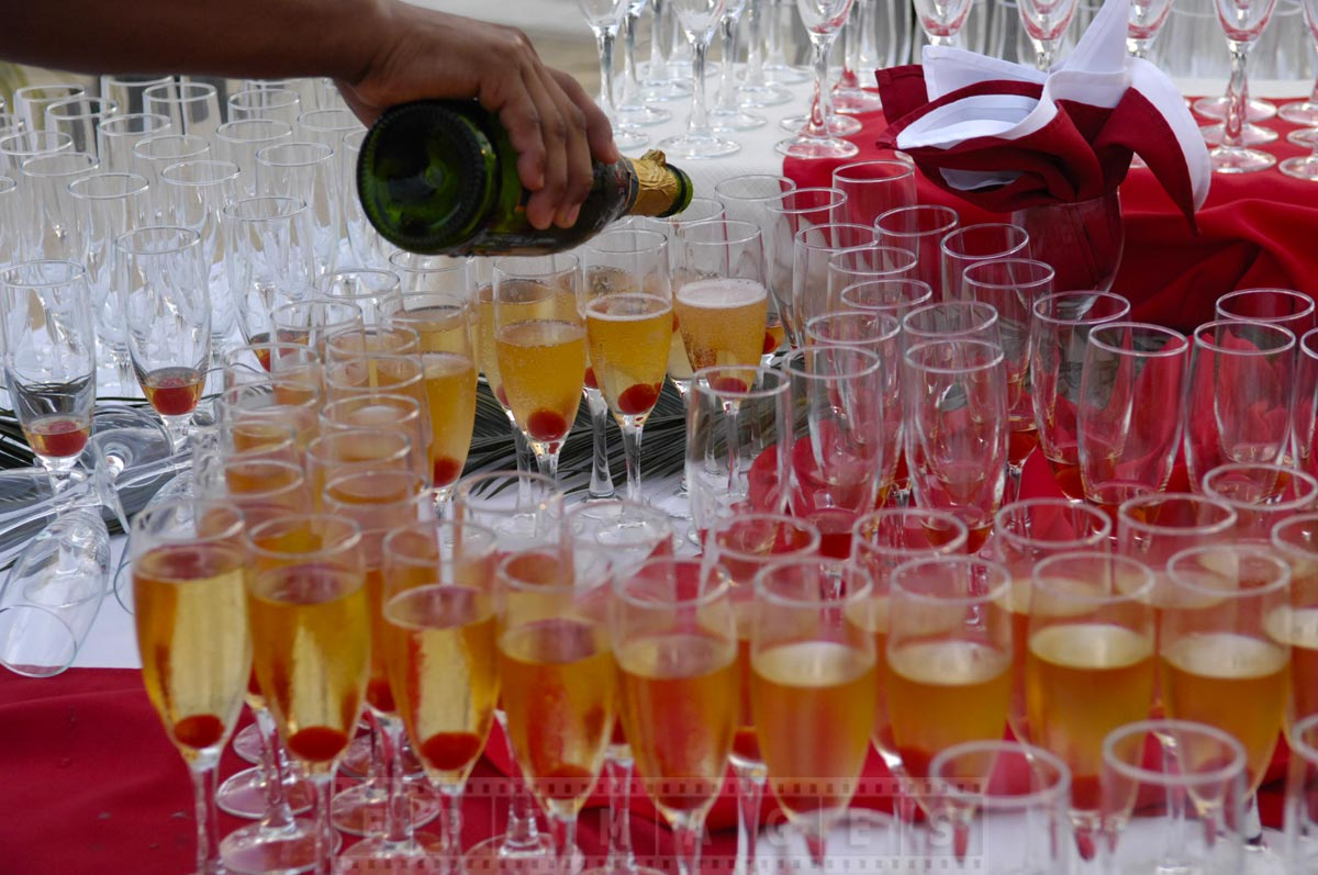 Unlimited champagne to celebrate love and passion