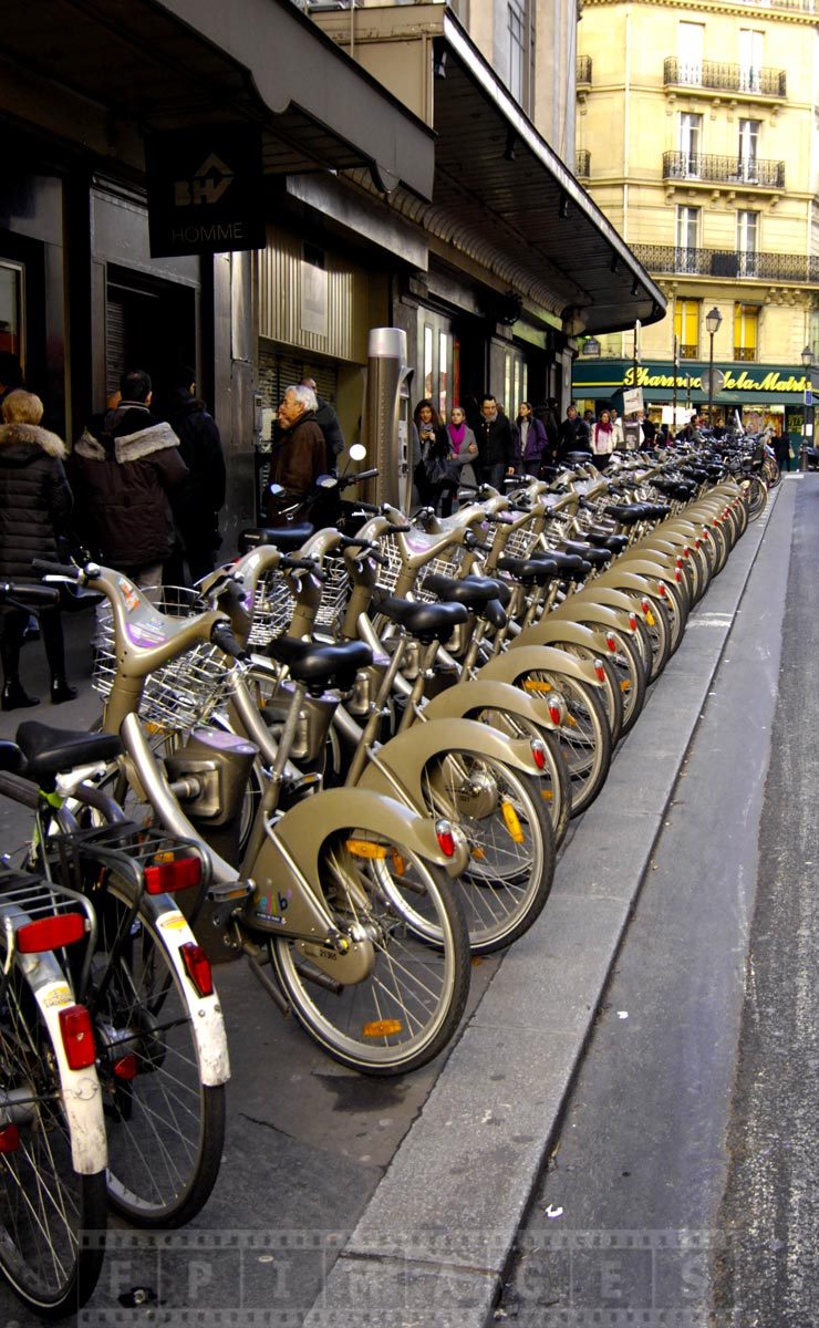Explore Paris on bike from Velib, first 30 minutes free