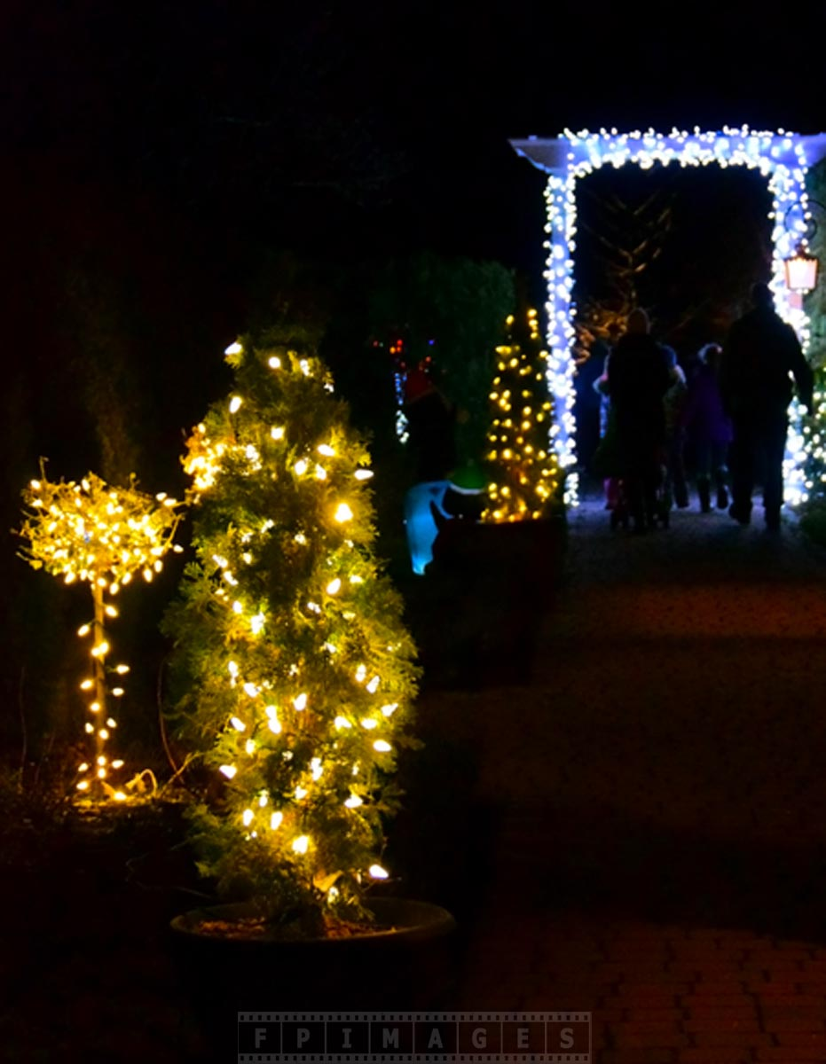 Christmas holiday decorations at Saint Andrews