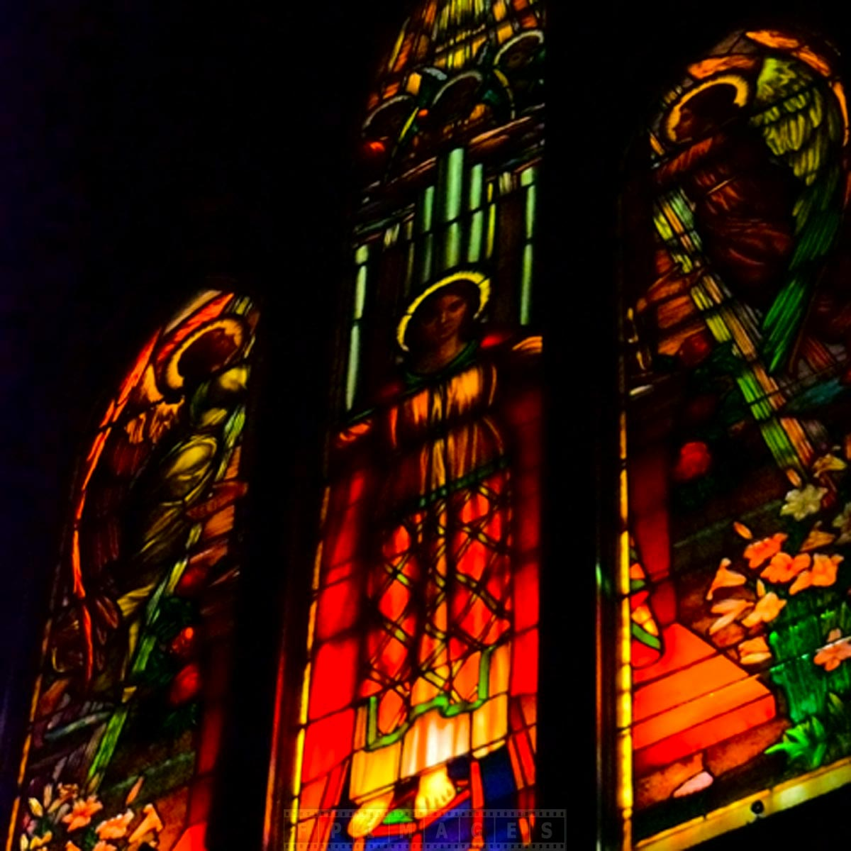 Saint Adrews beautiful old church stained glass
