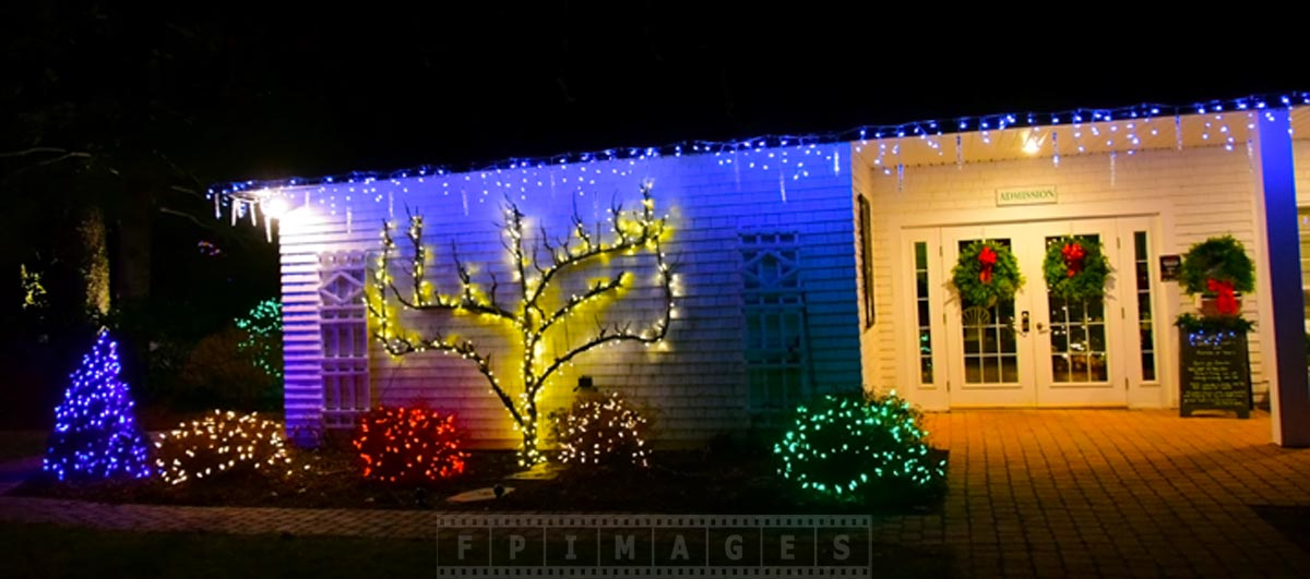 outdoor Xmas lights at garden of light, Saint Andrews, Canada