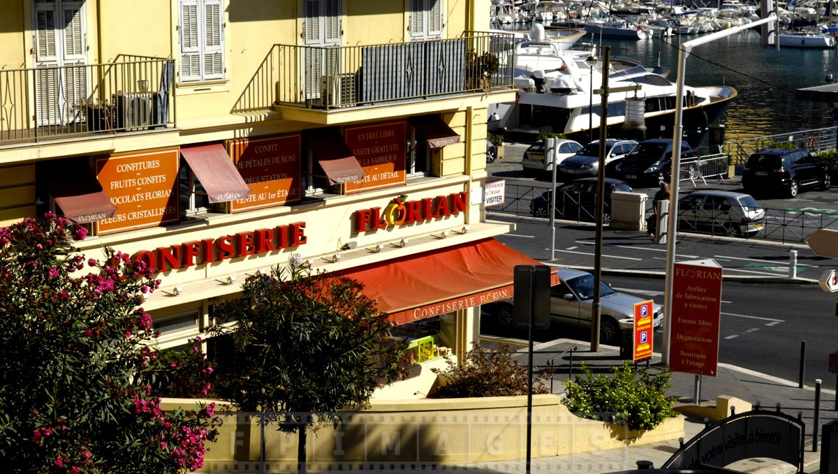 Florian Confectionery store is right next to the port of Nice