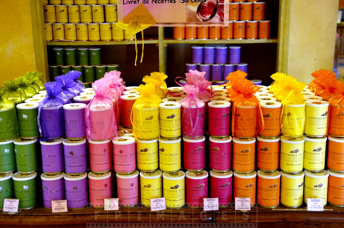 Colorful gift boxes at Florian store