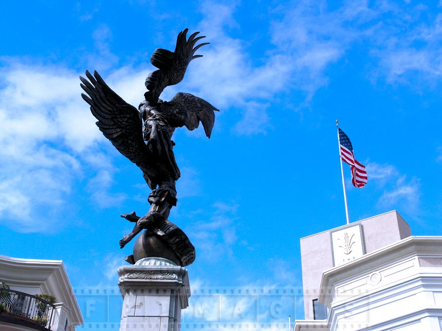 The Spirit of Los Angeles statue at the Grove