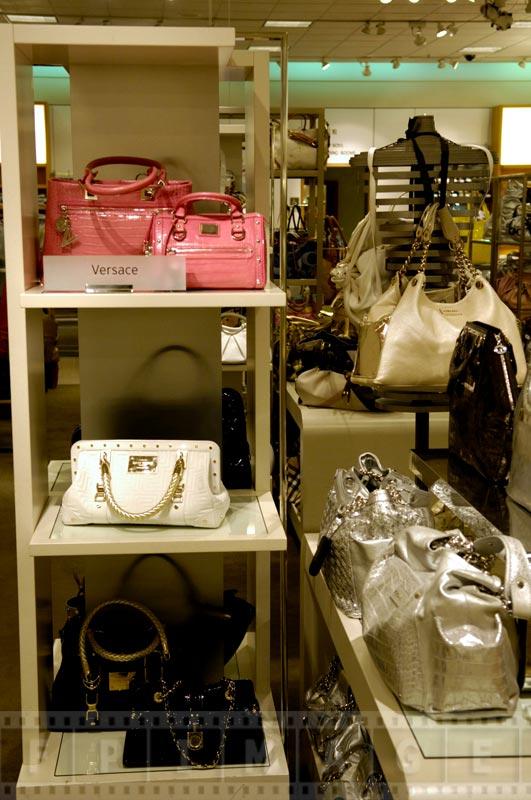 Versace bags store display
