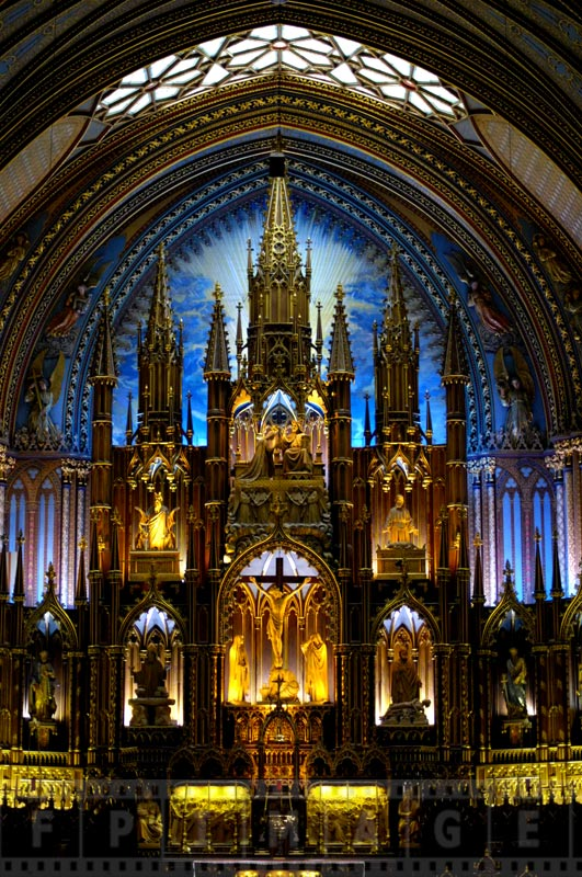 Notre-Dame Basilica of Montreal is gorgeous inside