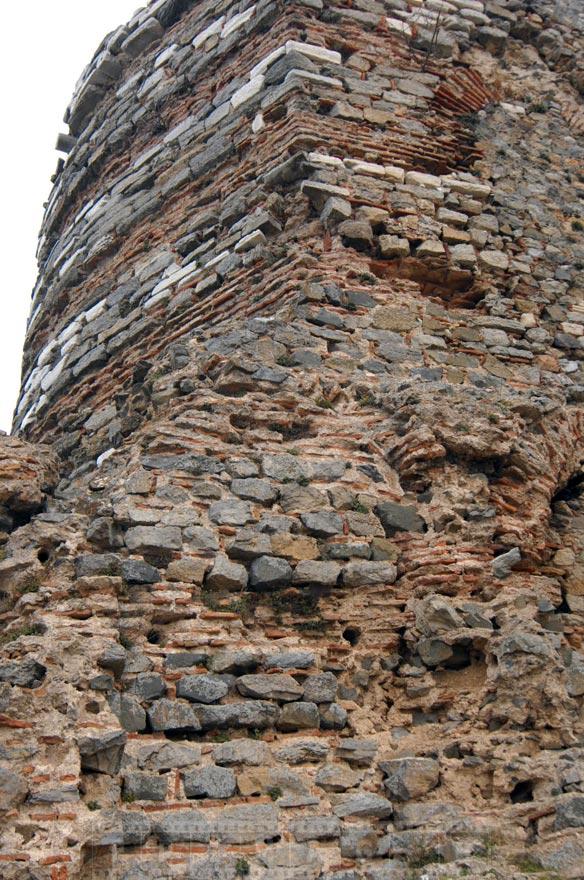 Ancient masonry walls of Byzantine fortress