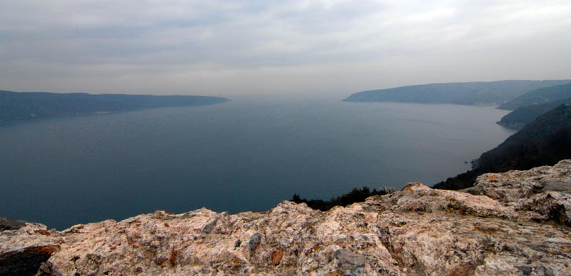 View from Yoros Castle at Bosphorus exit to the Black Sea