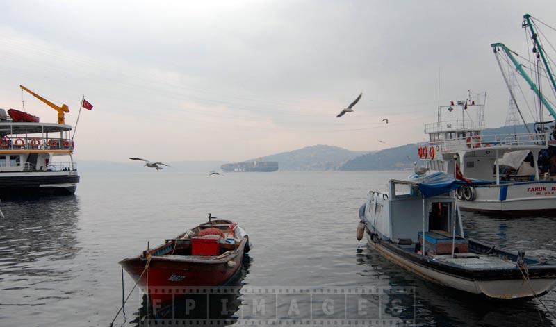 Scenic seascape at Anadolu Kavagi, Turkey