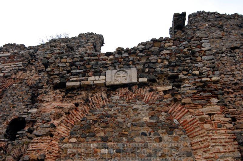 Byzantine symbol at Yoros Castle