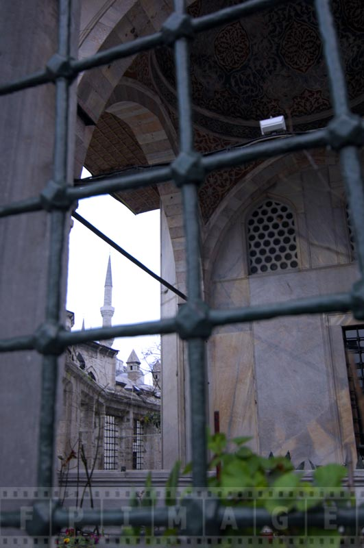 View from Sultan Ahmet tomb at the mosque