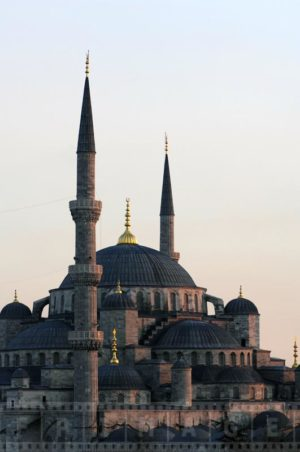 Sultanahmet Blue Mosque Dome during sunset