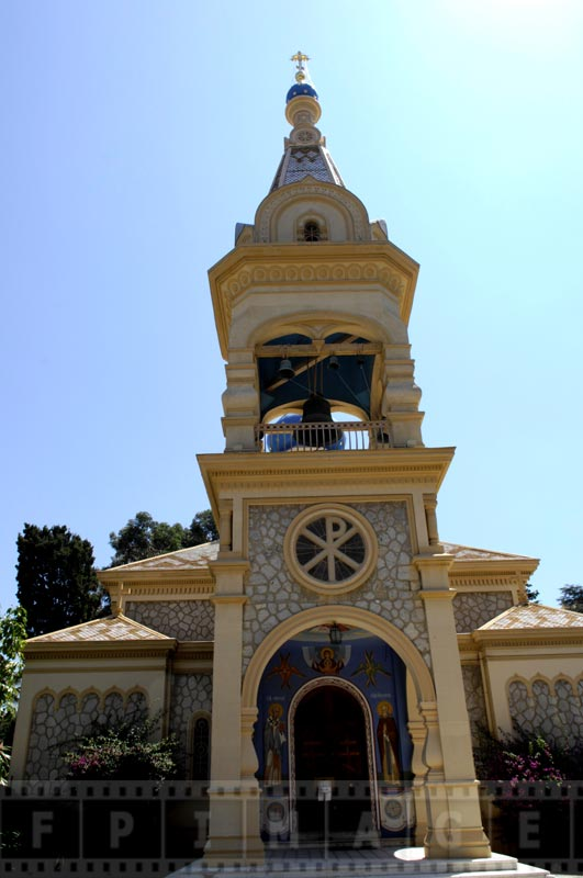 Exterior view of russian church in cannes