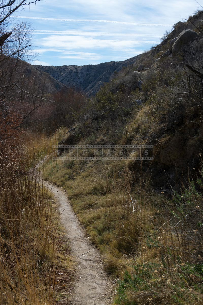 Footpath for hiking in the canyon