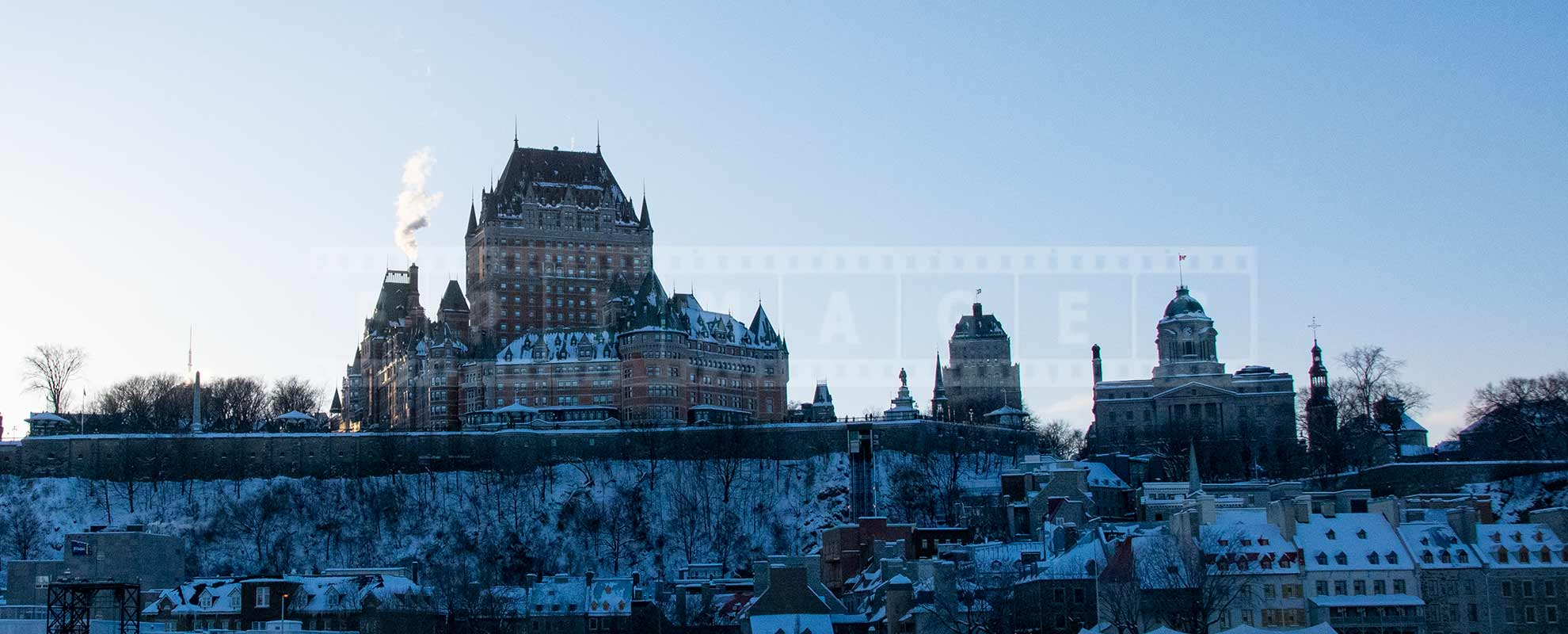 Chateau Frontenac seen from the Levis-Quebec ferry