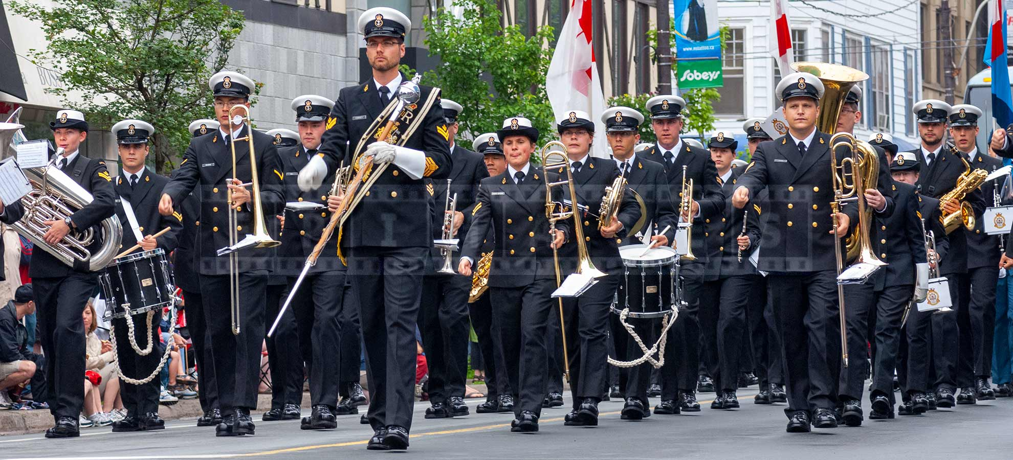 Canadian Navy brass band at tattoo parade in Halifax