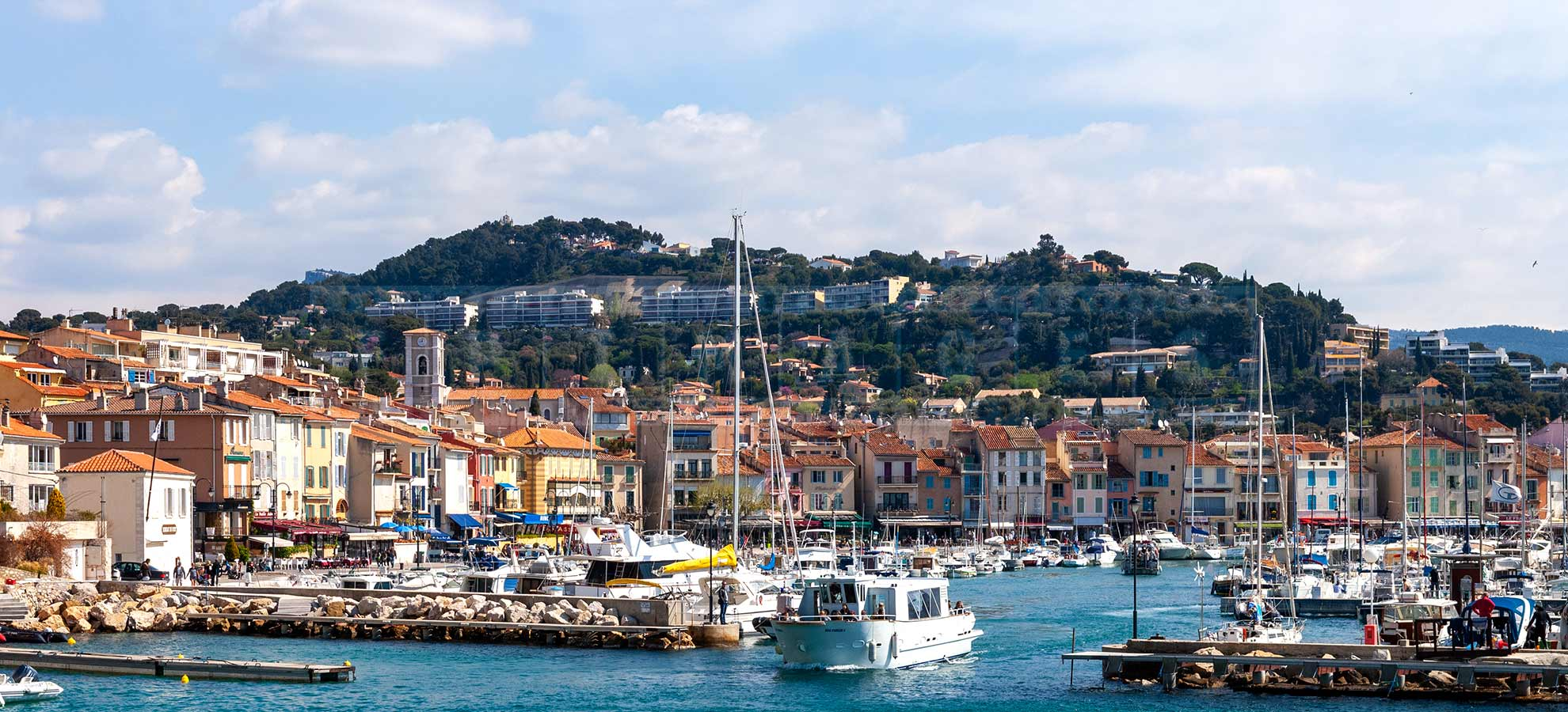 Beautiful little harbour of Cassis, France