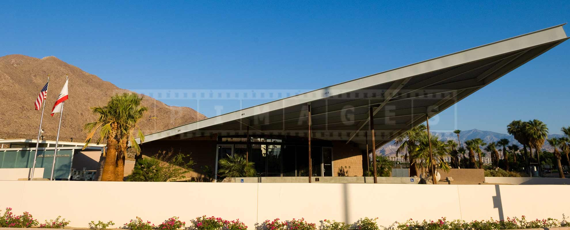 roof line of Palm Springs visitor centre by Albert Frey
