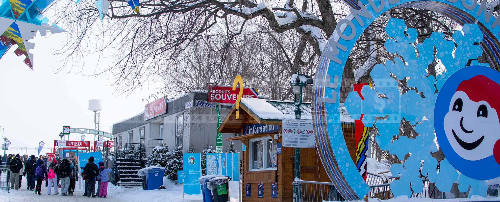 Quebec winter carnival entrance