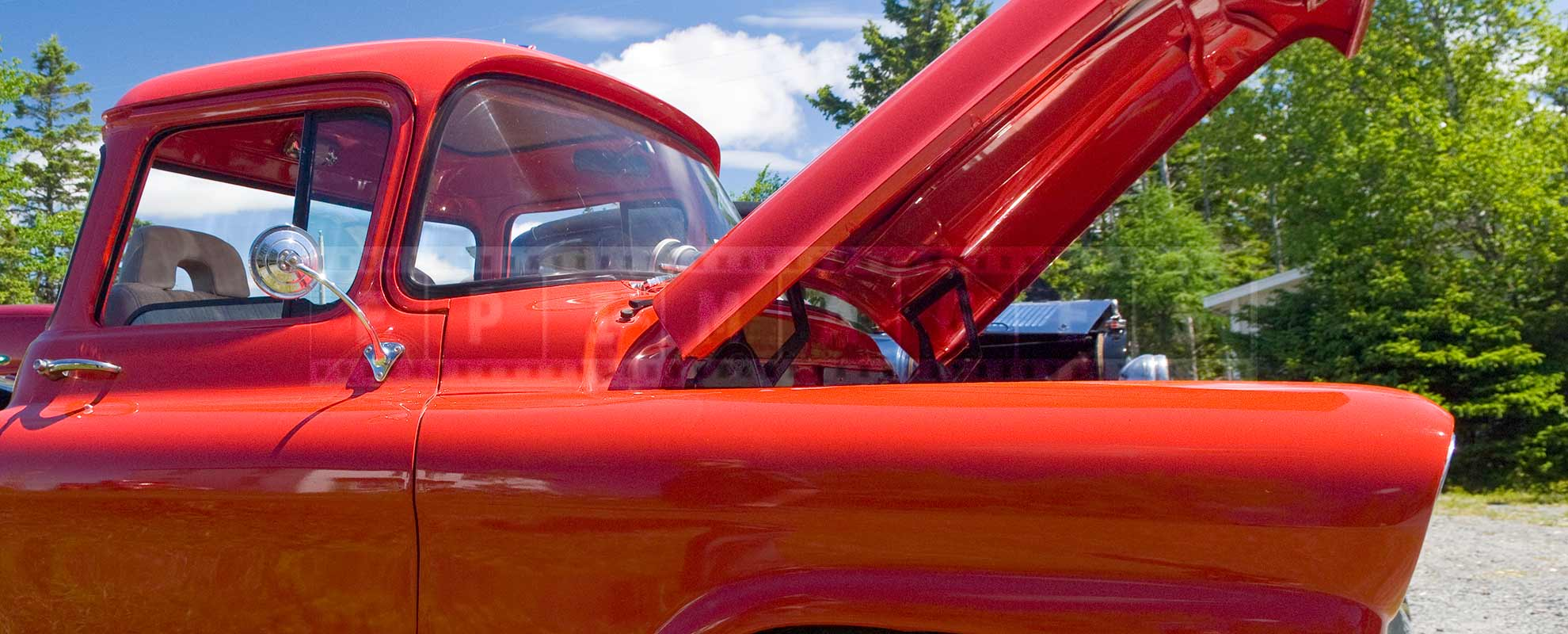 red half ton truck